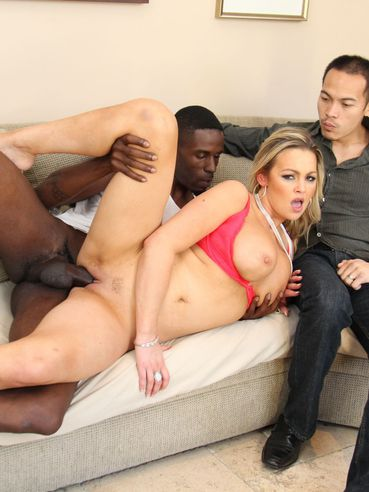 Abbey Brooks Is Appetizingly Sucking Huge Black Cock And Making Her Boyfriend To Watch Her Hardl