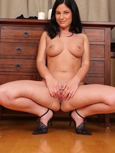 When She Is Alone At Home Cute Brunette Lexy Little Doesn???t Get Bored But Masturbates Shaved C