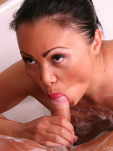 The Beautiful Mouth Of Asian Milf Mya Luanna Is Squeezing Rock Hard Dick