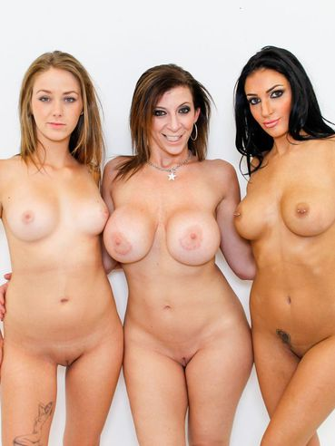 Softcore Babes Sara Jay, Amber Cox And Kimber Day Show Their Big Butts Side By Side.