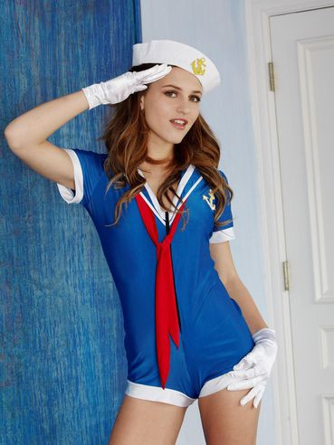 Sweet Babe Kasey Chase In A Hot Sailor Girl Uniform And Getting Out Of It Quickly
