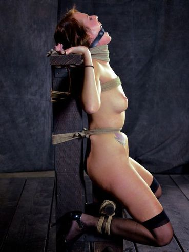 Tied Up Alisha Adams Is Helpless While Playing Her Favorite Bondage Games.