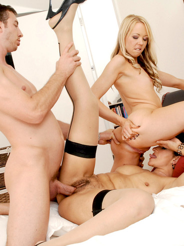 Male female dildo threesome gangbang